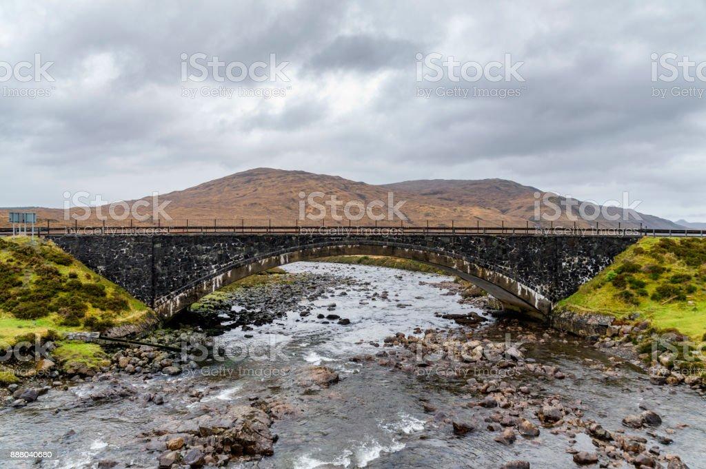 Sligachan Köprüsü stok fotoğrafı