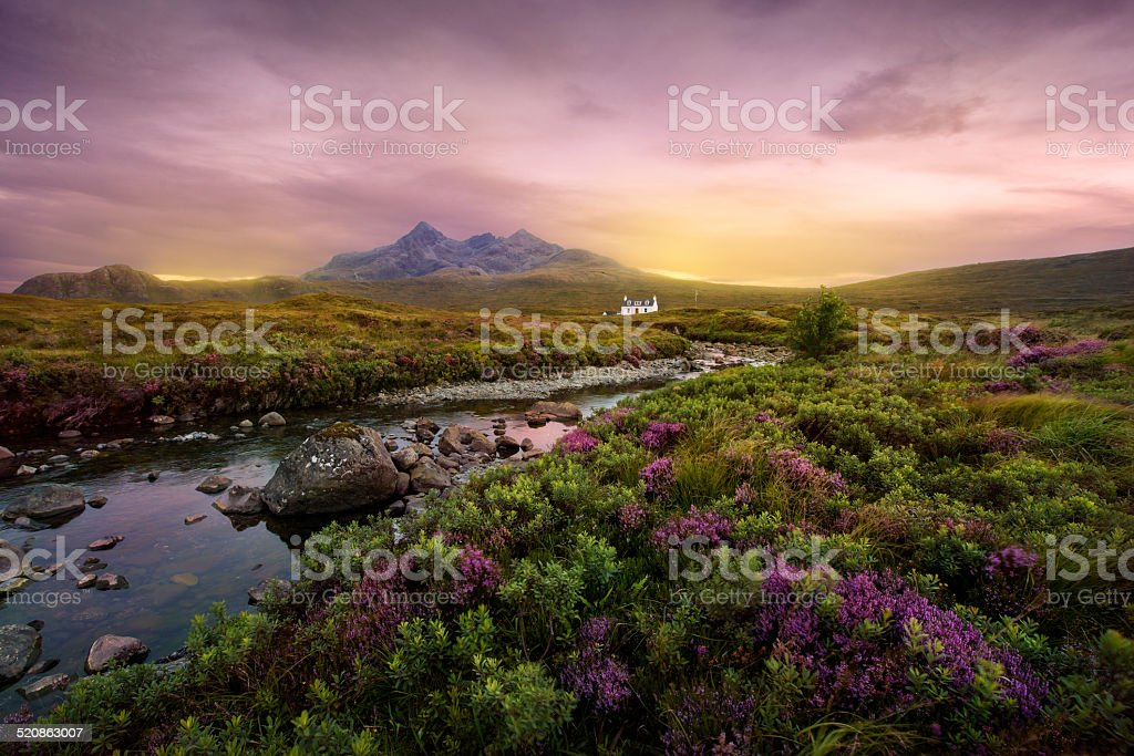 Sligachan river, Scotland stock photo
