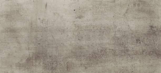 leicht bräunlich, Strukturierte Betonwand mit rissen und schmutzigen gebürsteten texturen. horizontale rustikale steinige leinwand. Große Steintafel. Industrial Style Element. – Foto