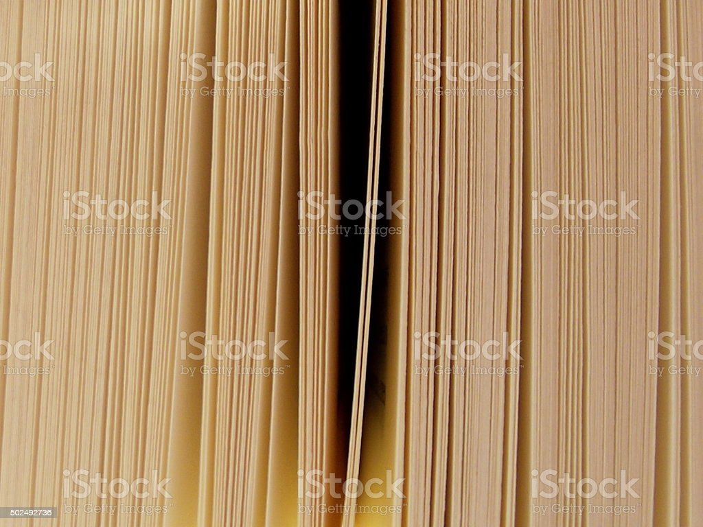 Slightly Open Book Pages stock photo