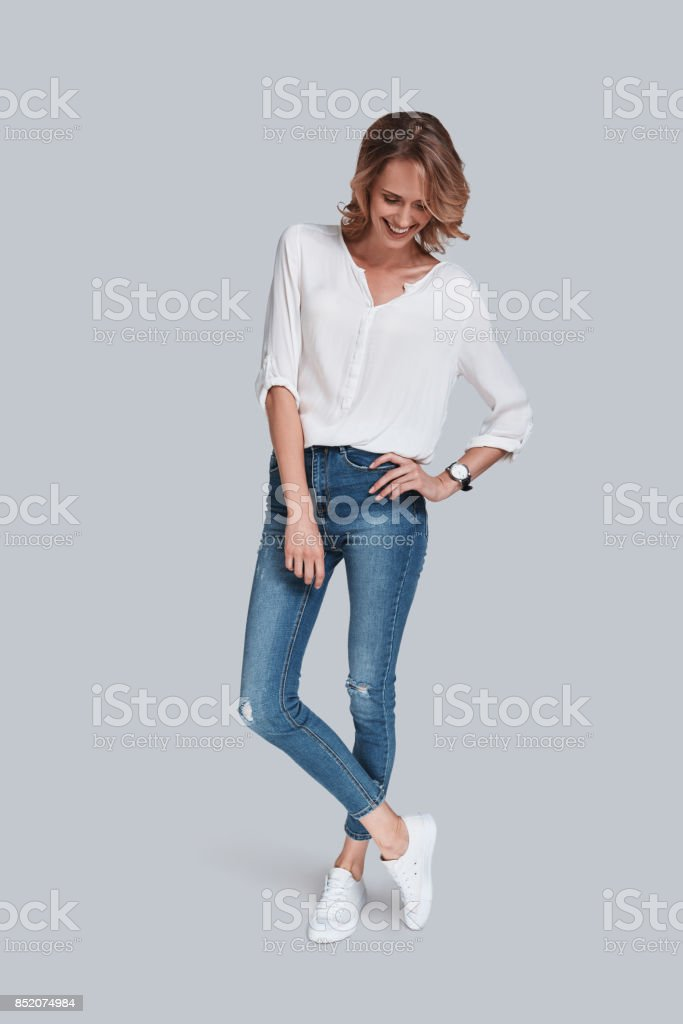 Slim and beautiful. stock photo