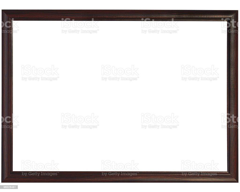 Slim black Wooden Frame stock photo