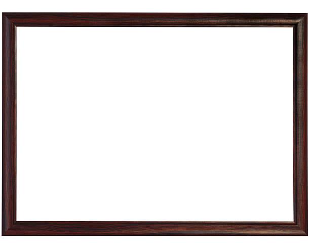 Slim black Wooden Frame  black border stock pictures, royalty-free photos & images