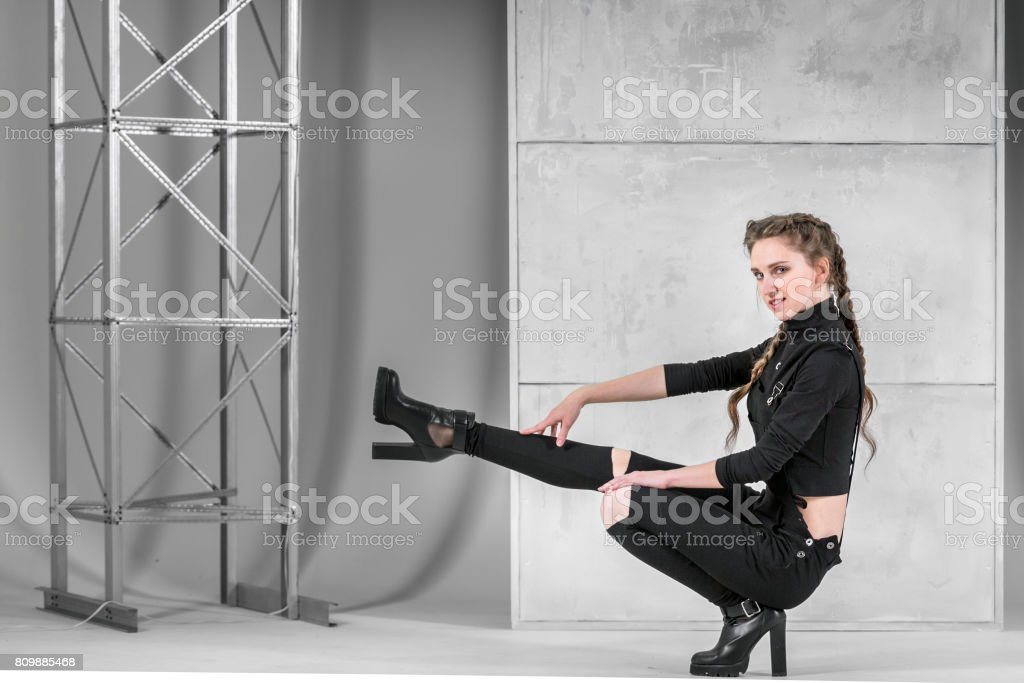 Slim Female Dancer. Vogue Dance Style stock photo