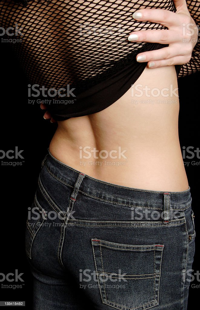 Slim Jeans stock photo