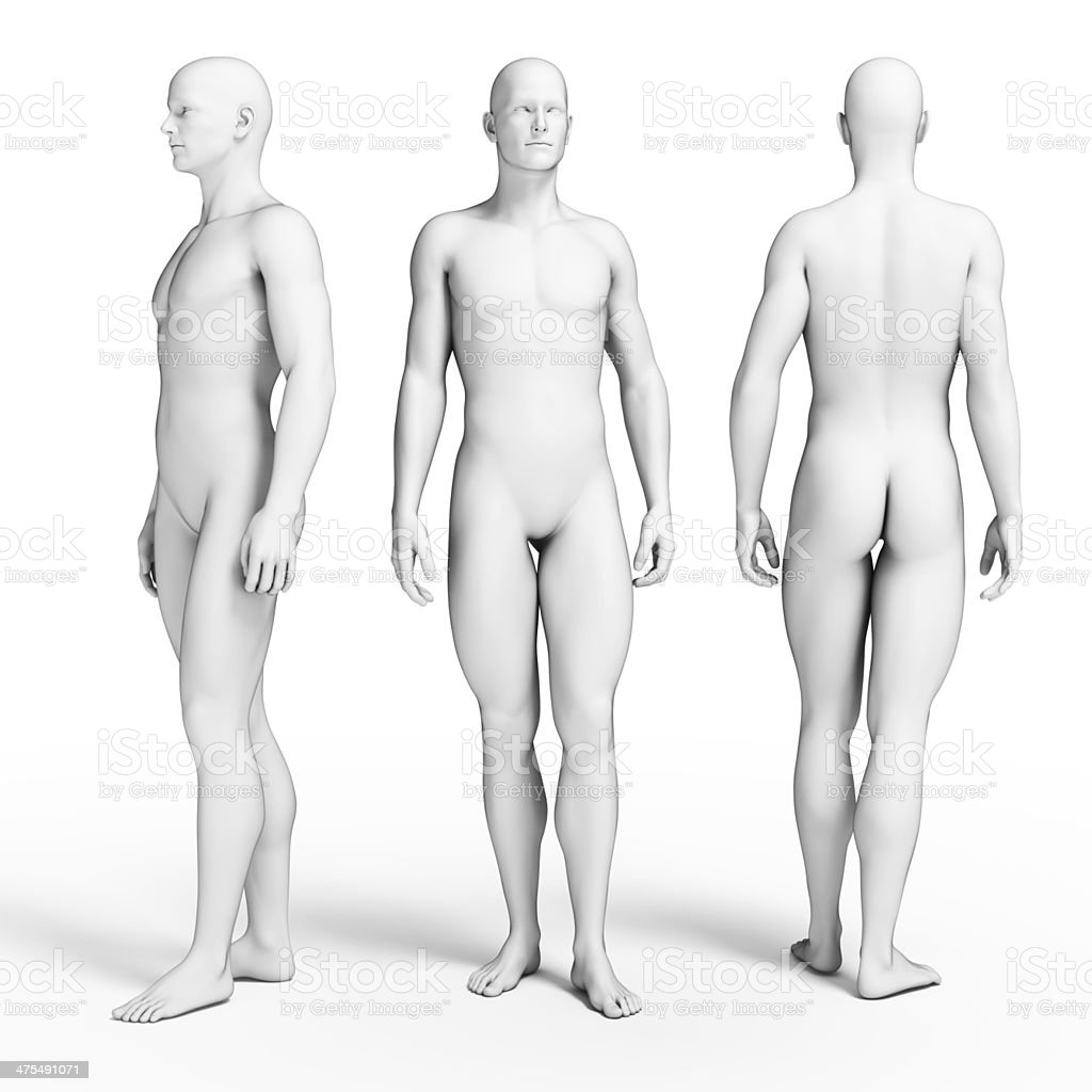slim male figure stock photo