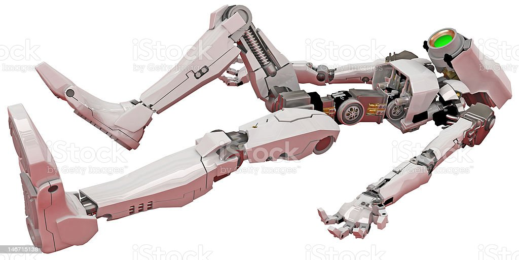 Slim Robot, Horizontal royalty-free stock photo