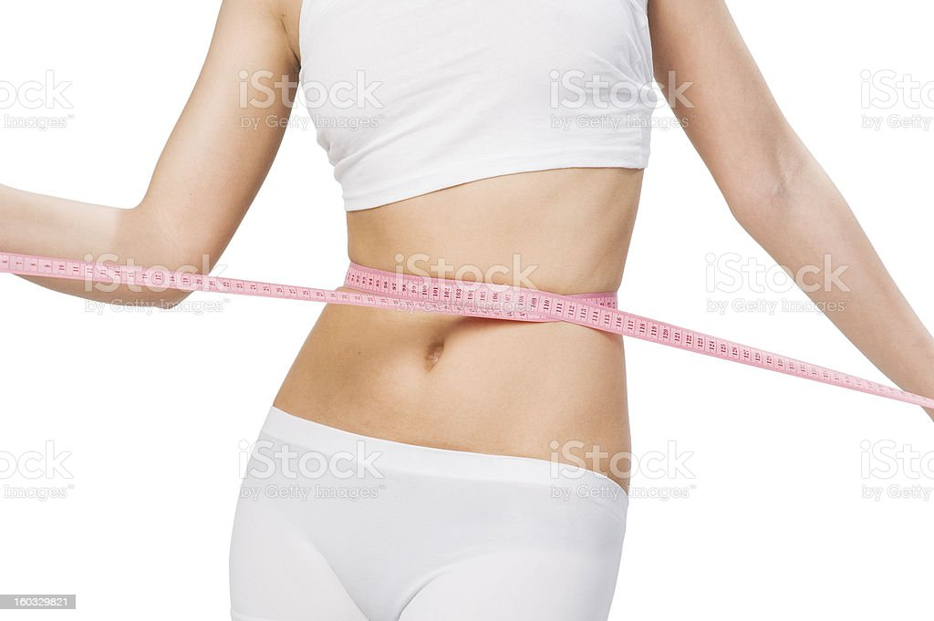 slim waist royalty-free stock photo