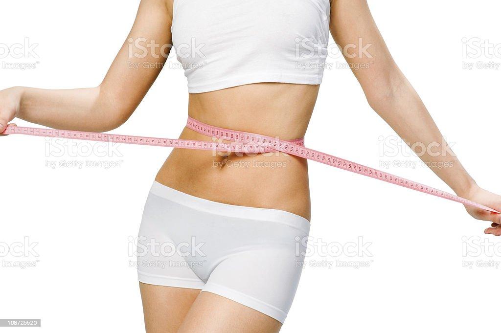 slim waist royalty-free stock photo