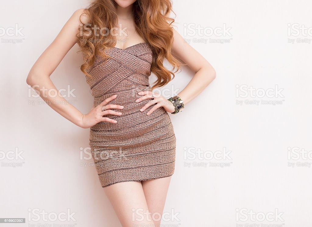 slim woman body stock photo