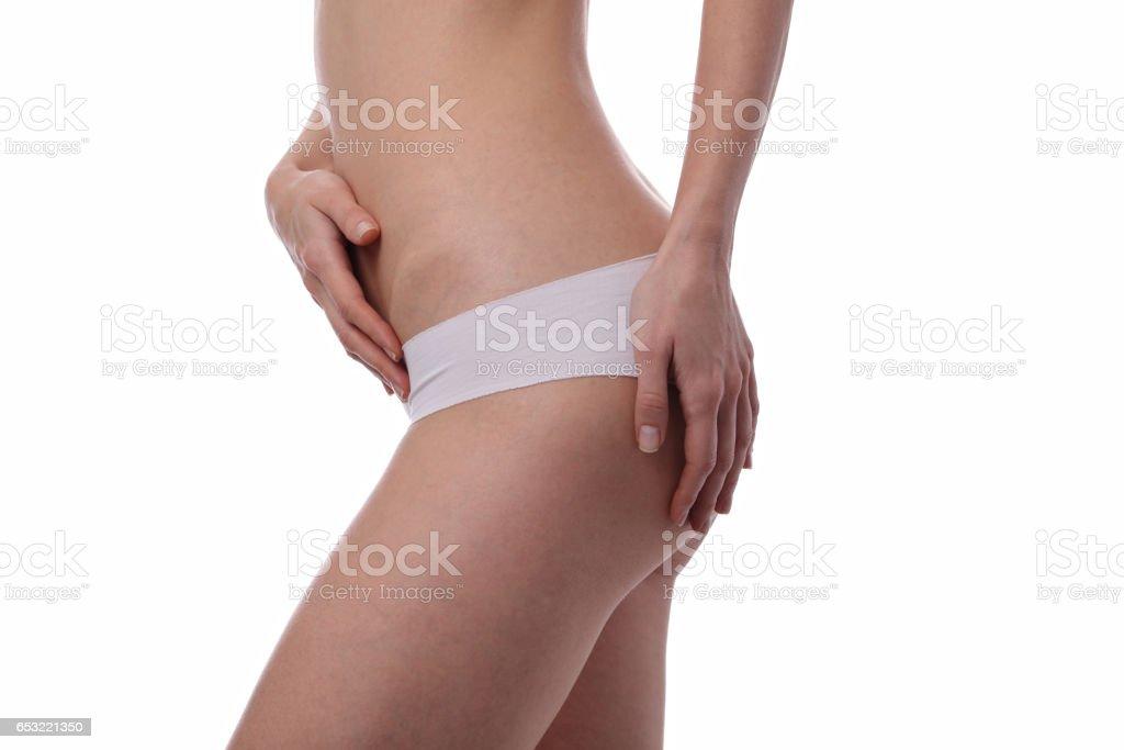 Slim Woman Body Shape Beautiful Female Wearing White