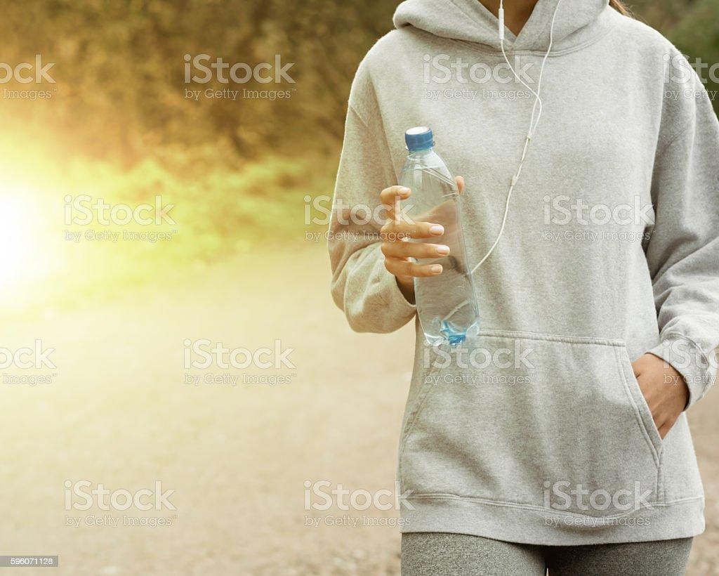 Slim woman in sportswear royalty-free stock photo