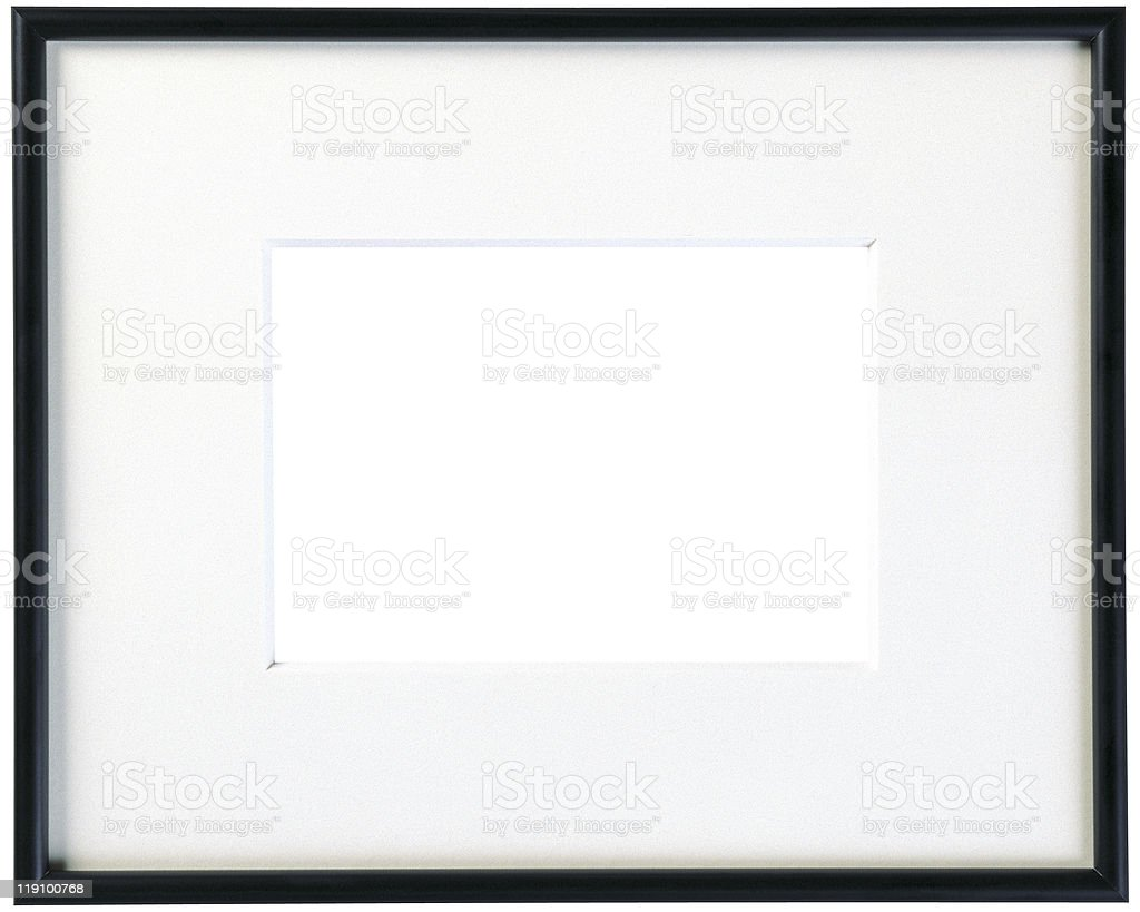 Slim Wood Frame stock photo