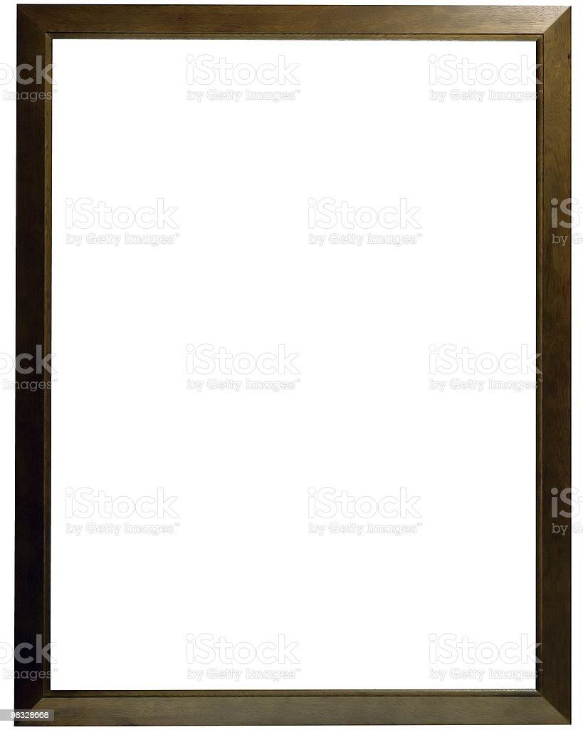 Slim Wood Frame royalty-free stock photo