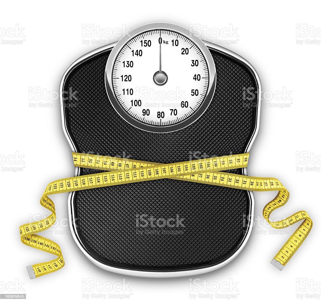 Slimming Scale (kg) (with Clipping Path) royalty-free stock photo