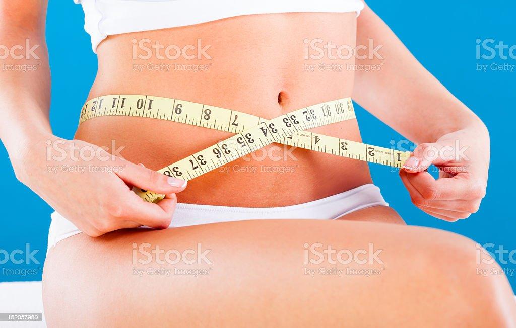 Slimming woman royalty-free stock photo