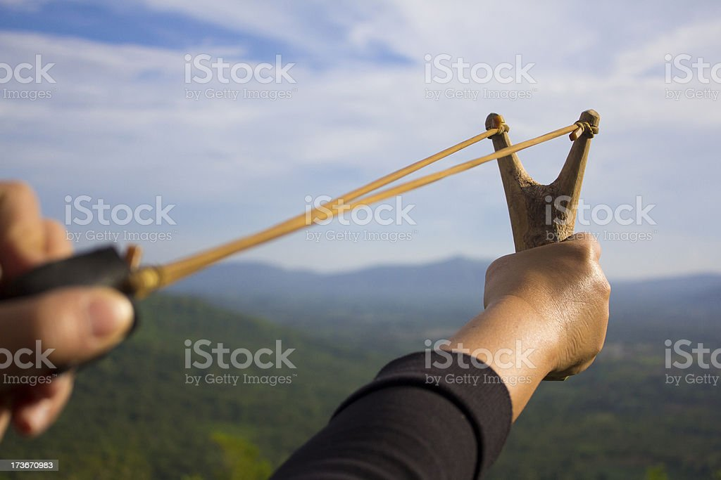 Sling shot royalty-free stock photo