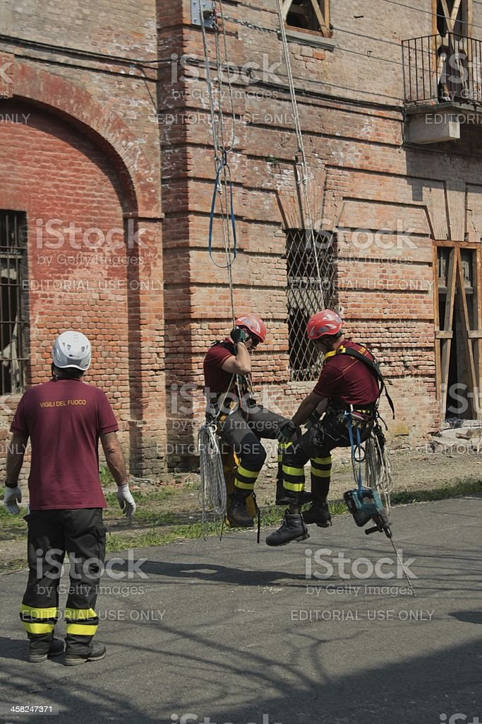 Slinged for rescue stock photo