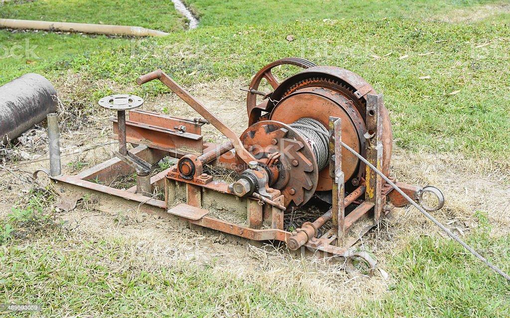 slings of machine stock photo