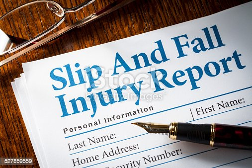 istock Slip and Fall Claim form 527859559