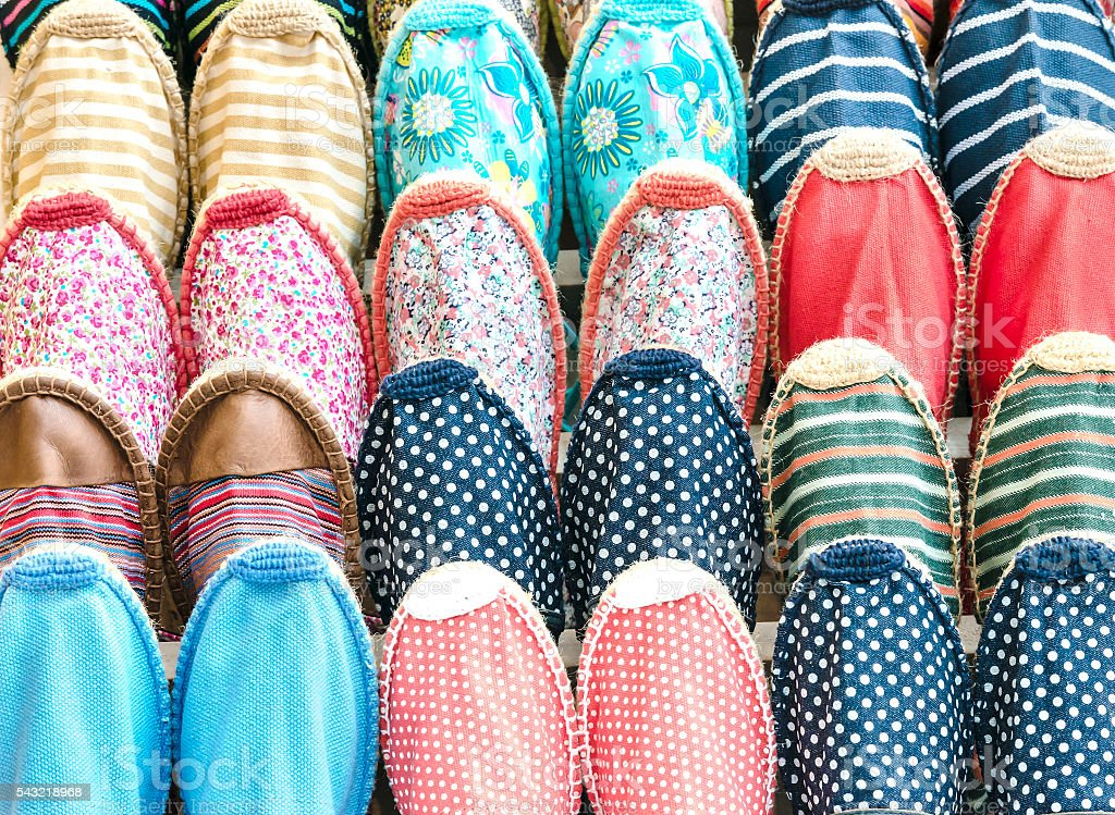 Slippers background stock photo