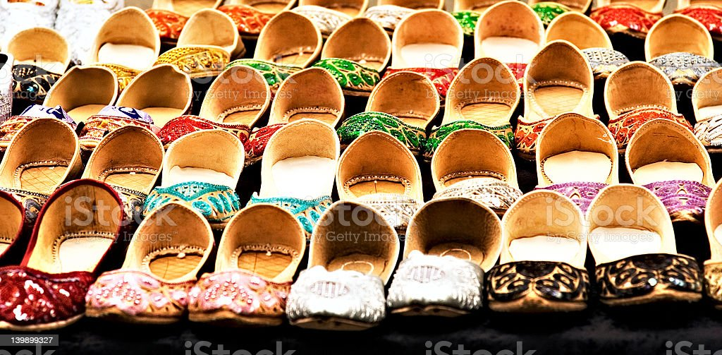 Slippers In Line royalty-free stock photo