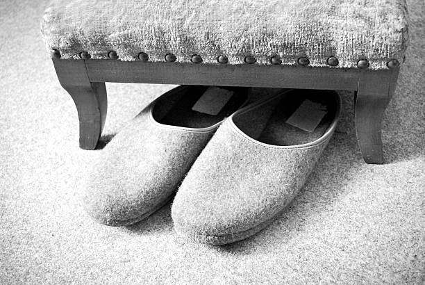 slippers nursing home stock photo