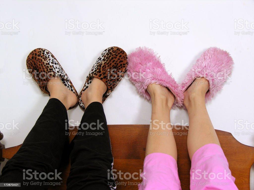 slippers stock photo