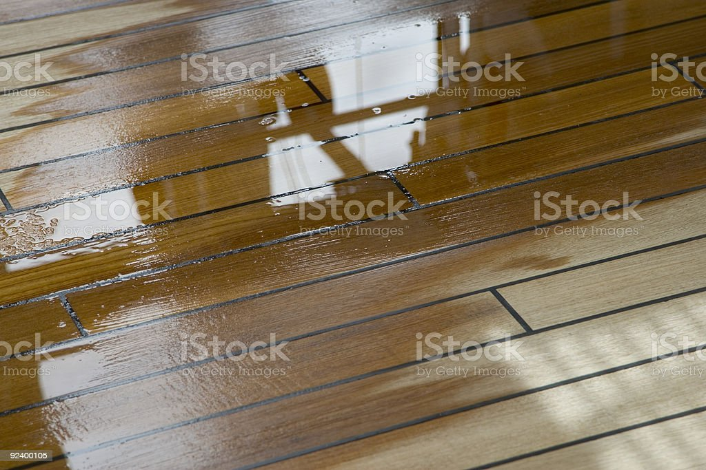 Slippery Deck royalty-free stock photo