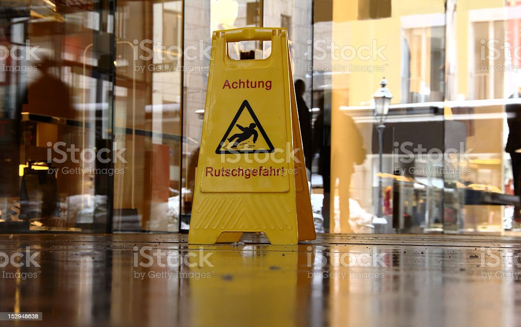 Slippery when wet royalty-free stock photo