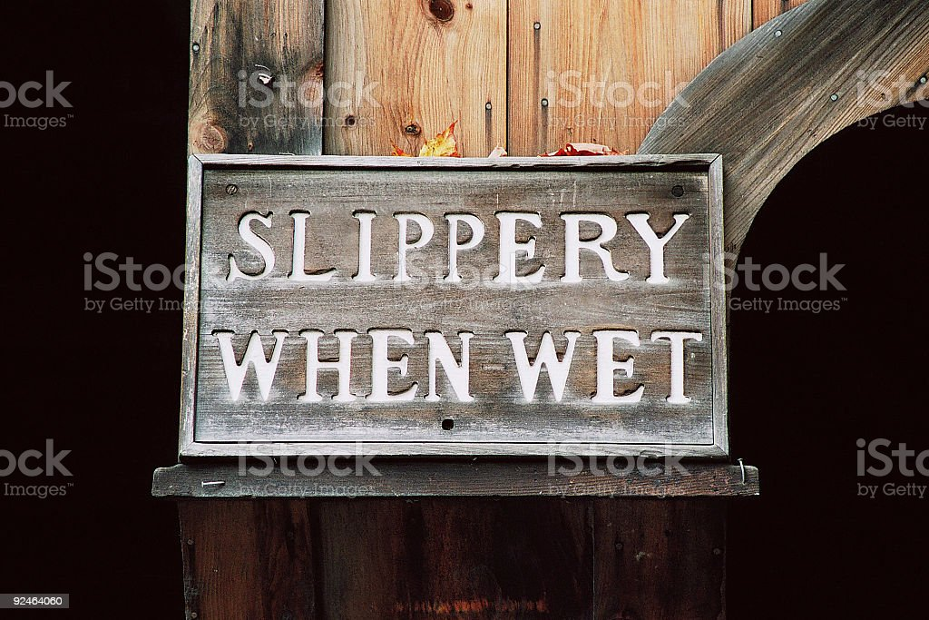 Slippery When Wet stock photo