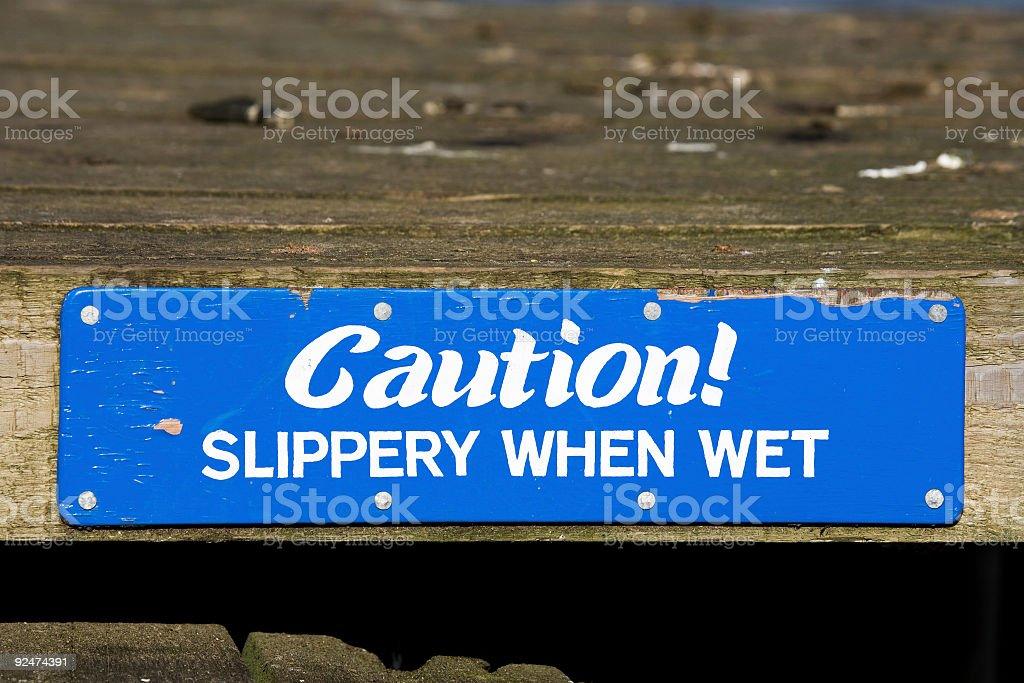 Slippery When Wet royalty-free stock photo