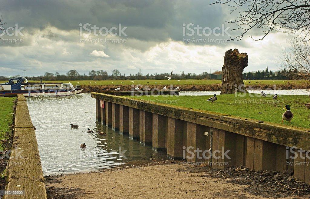 Slipway Huntingdon Cambrideshire royalty-free stock photo