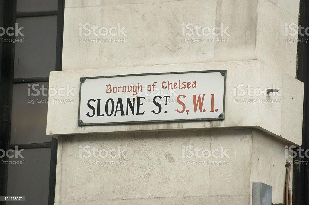 Sloane Street Sign stock photo