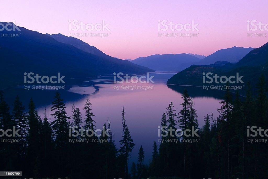 slocan lake valhalla provincial park kootenay's british columbia canada stock photo
