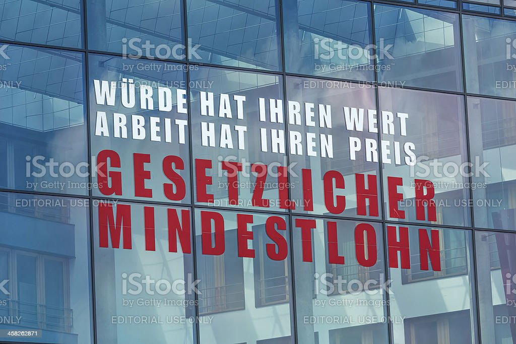 Slogan of the labor union Verdi in Berlin royalty-free stock photo