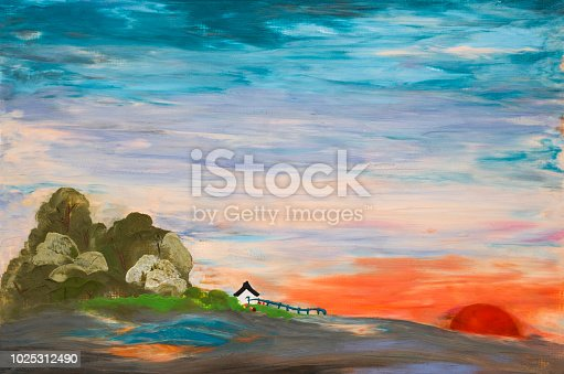 istock slope and village at sunset 1025312490