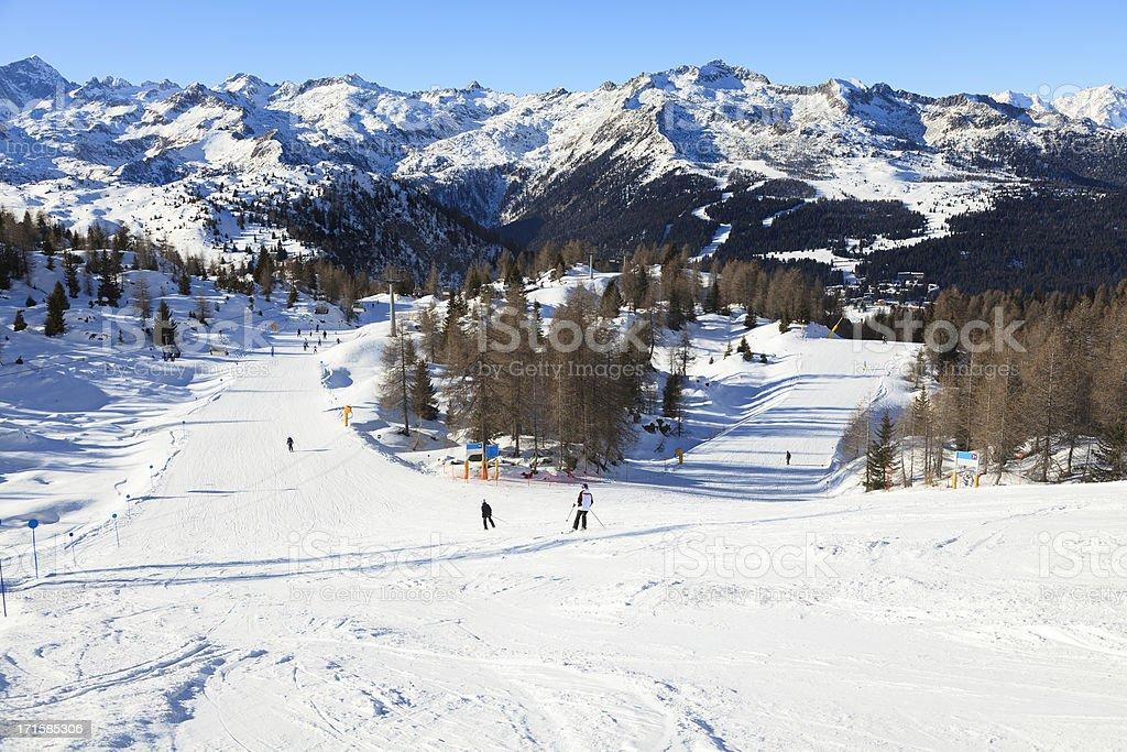 Slope in Dolomiti stock photo