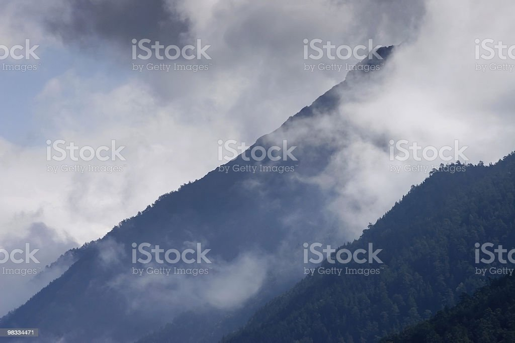 Slope of mountain royalty-free stock photo