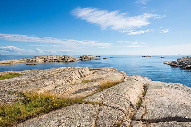 Hang des nackten rock im Verdens Ende, Tjøme Vestfold Norwegen – Foto