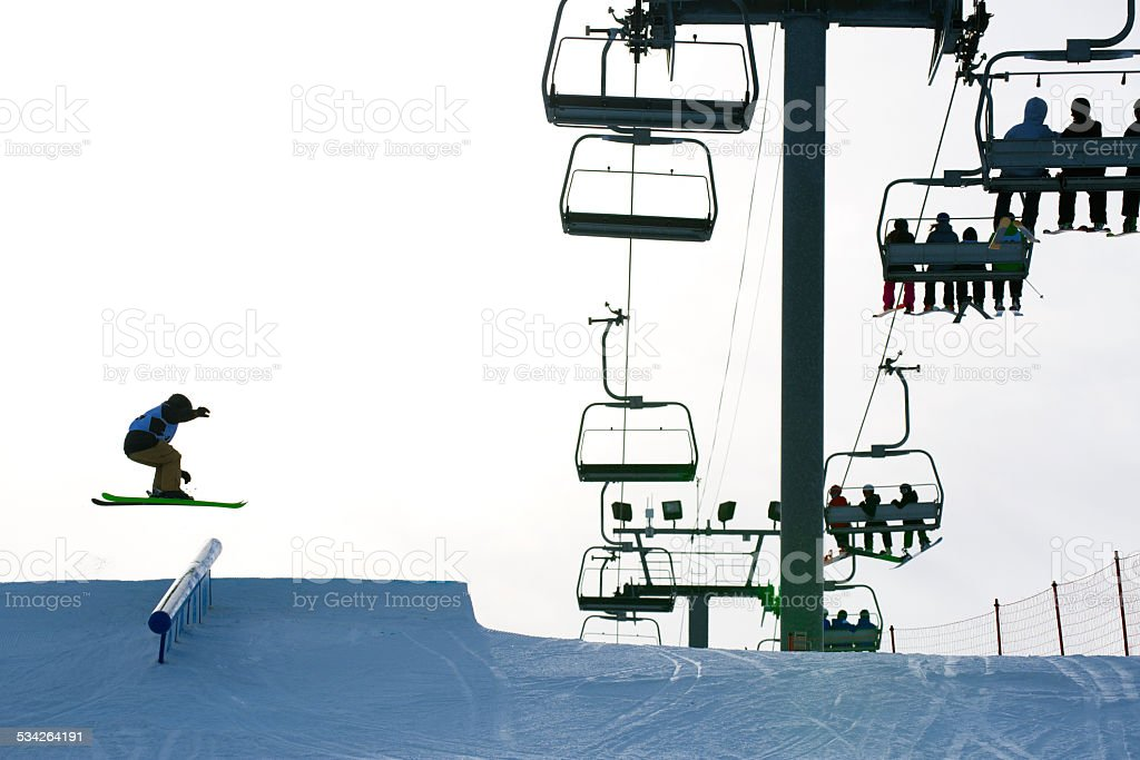 Slope Style Skier stock photo