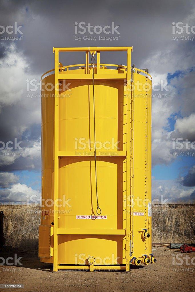 Sloped Bottom Oil Storage Tank royalty-free stock photo