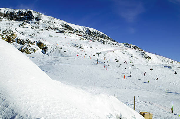 Slopes in Alpe d'Huez. France​​​ foto