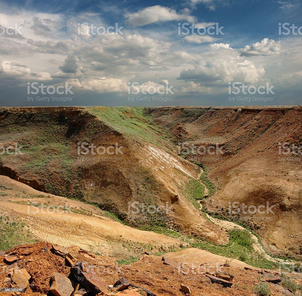 slopes plateau Ustyurt stock photo