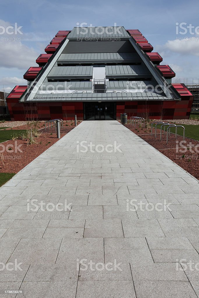 Sloping modern building stock photo