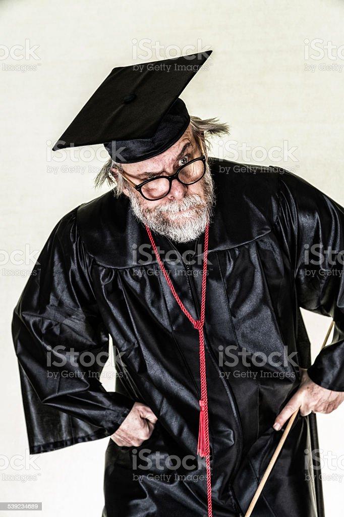 Sloppy enojado Nerd College Professor foto de stock libre de derechos