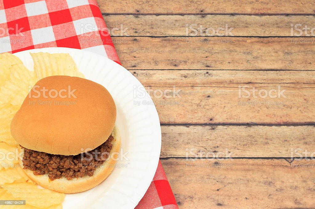 Sloppy Joe Sandwich stock photo