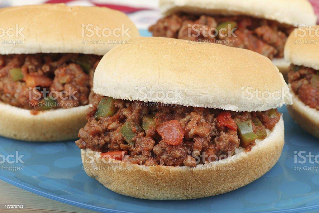 Sloppy Joe Sandwiches stock photo