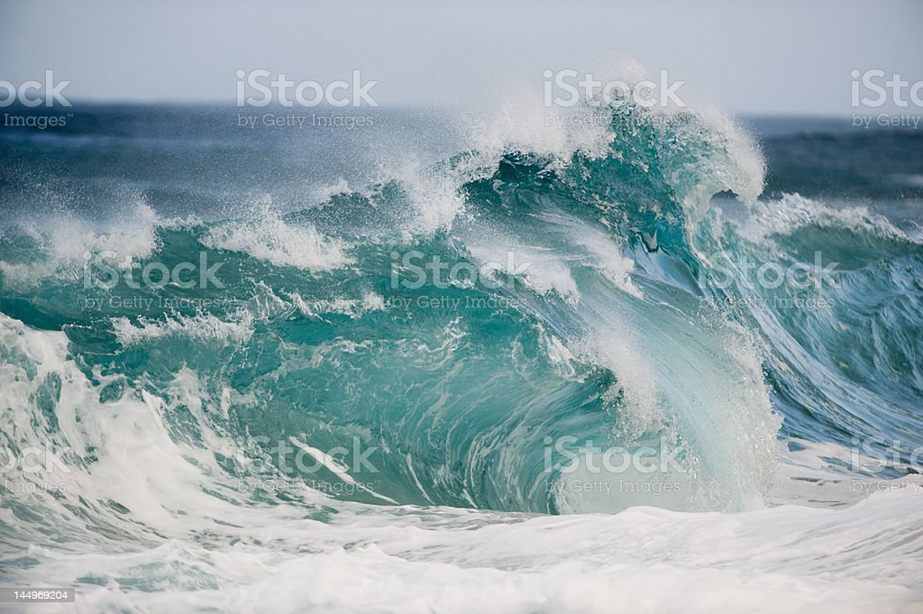 Sloppy Wave in Oahu royalty-free stock photo
