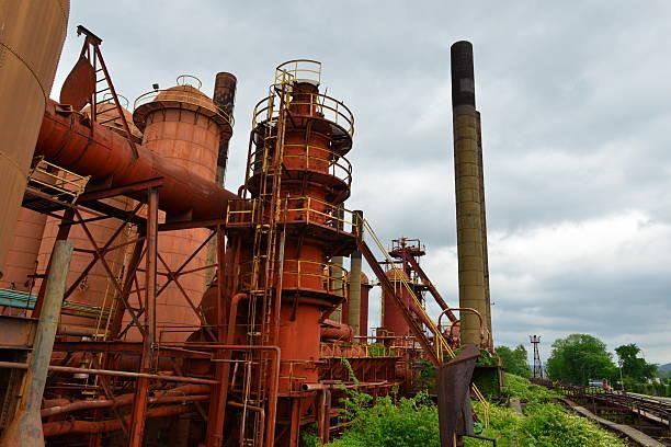 Sloss furnaces in Birmingham, Alabama – Foto